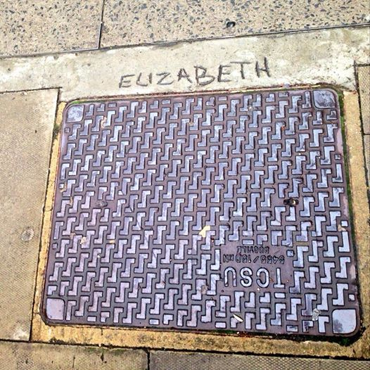 My name above a drain cover. A bit of Hollywood sparkle in Kings Cross.